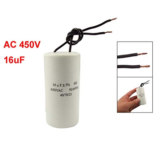 SODIAL(R) CBB60 AC 450V 16uF Cable moteur course demarrage SH Condensateur 50/60Hz
