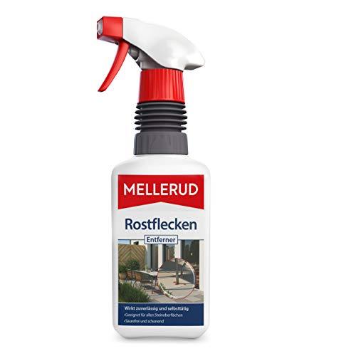 MELLERUD Rostflecken Entferner – Effizientes Spray gegen Rostflecken auf allen Steinoberflächen im Innen- und Außenbereich – 1 x 0,5 l