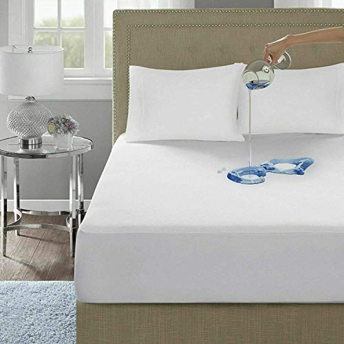 IMFAA 100% Water & Moisture Proof Extra Deep Terry Towel Mattress Protector Topper Cover Anti Allergy and Breathable in Cot Bed(70x140)