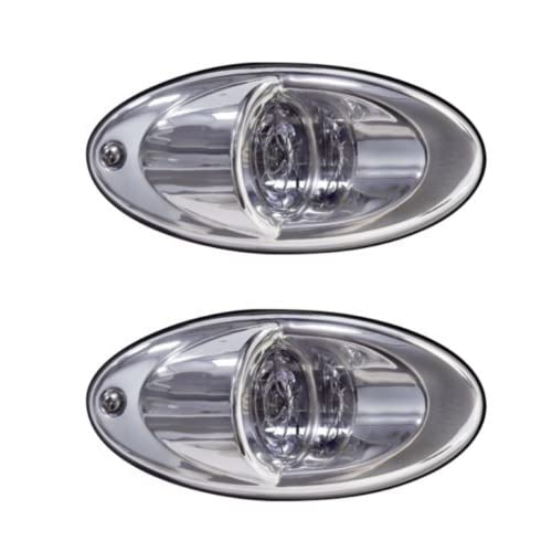 NEW Attwood 6522SS7 Stainless Steel LED Boat Bow Docking Lights Surface Mount