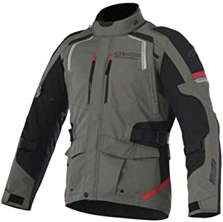 Alpinestars–Motocicleta Chaquetas Andes V2DRYSTAR Grã ¼ N Militaire Negro Rojo–XXL