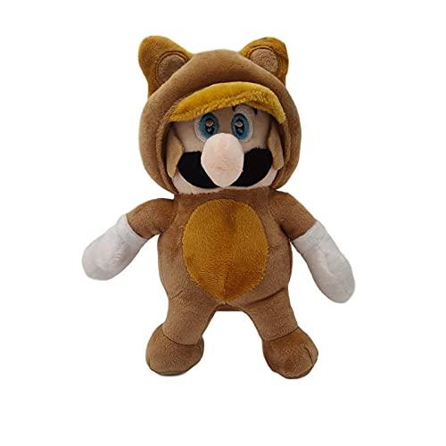 Zacht speelgoed Super Mario Bros Doll 22 Cm,Cartoon Tanooki Mario pluche speelgoed voor kinderen verjaardag