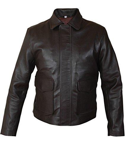 Flesh & Hide F&H Men's Indiana Jones Harrison Ford Genuine Leather Jacket 2XL Brown