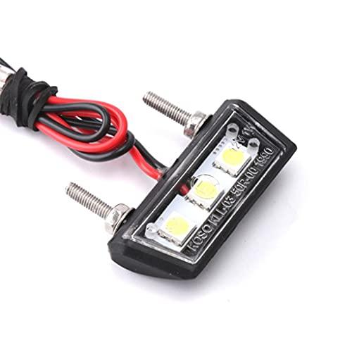 12V LED Kennzeichenleuchte Motorrad, Nummernschildbeleuchtung, Motorrad Kennzeichenbeleuchtung, Weißes Licht mit hoher Helligkeit