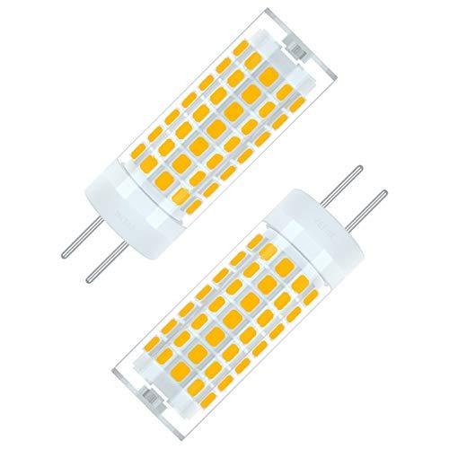 SEAMI 2-Packs 6W 90-265V G6.35/GY6.35 Bi-Pin Base Bombilla LED 690 Lúmen Blanco Cálido 3000K Equivalente 75W halógena Lámpara[Clase de eficiencia energética A+]