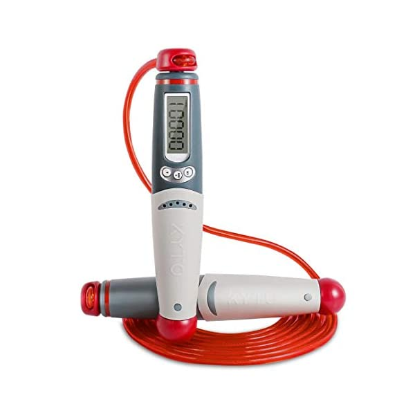 KINGON Jump Rope with Calorie Counter, Digital Speed Jumping Rope with Ball Bearings...
