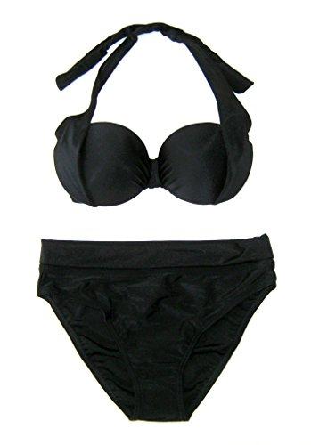 Heine eleganter Pushup Bikini Badeanzug Gr 34 XS Cup C schwarz