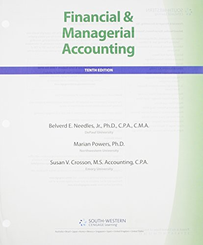 Bundle: Financial and Managerial Accounting, 10th + CengageNOW 2-Semester Printed Access Card