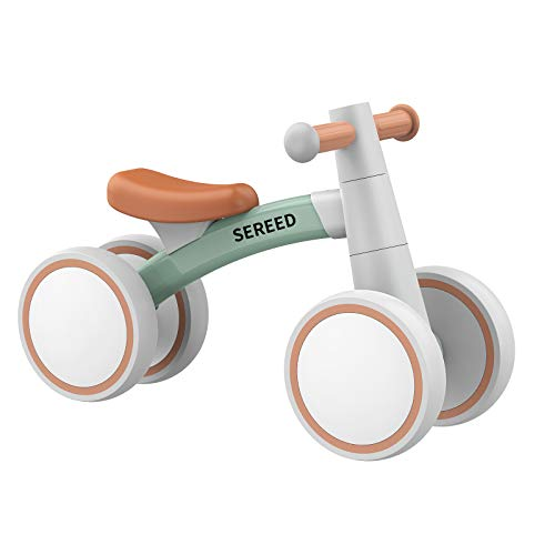 SEREED Baby Balance Bike for 1 Year Old Boys Girls 12-24 Month Toddler Balance Bike, 4 Wheels Toddler Ride On Toys, First Birthday Gifts