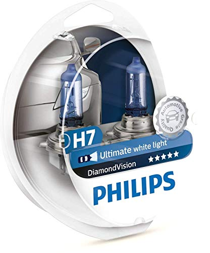 Philips Diamond Vision 5000K H7 autokoplamp-lampen (Twin Pack) 12972DVS2