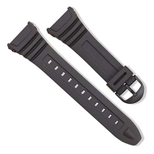 # N/V Cinturino In Silicone In Acciaio Inox Fibbia Pin Cinturino Per Casio W-96H Sport Uomini Donne Cinturino Braccialetti