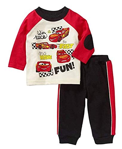 Disney Baby Boys Cars McQueen Pant and Shirt Outfit Set Newborn