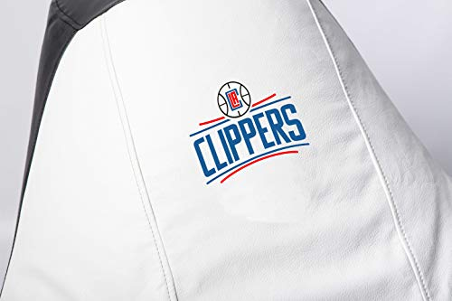 Los Angeles Clippers NBA Comfortable Kids Adult Game Outdoor Indoor Lounge Chair Cover + Inner Bag (Without Beans) (White)