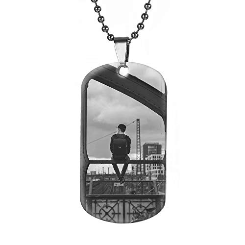 Personalizza Collana Photo Collana in titanio con ciondolo personalizzato Collana con foto medaglia oro/argento/nero