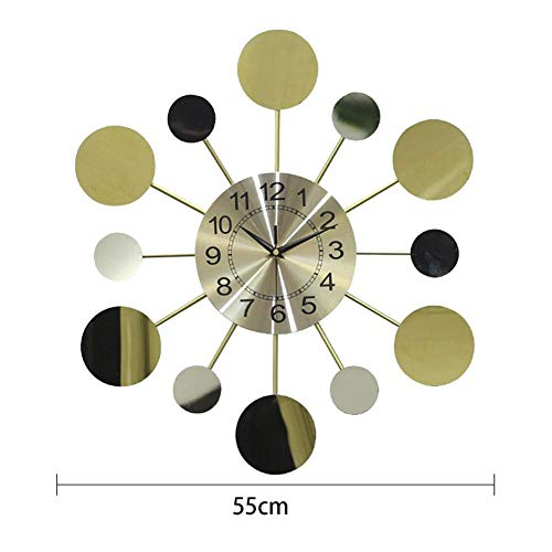 Nordic Wall Clock, Modern Minimast rMirror wandklok zakhorloge for Eetkamer Slaapkamer, Battery rantsoen alarm clock