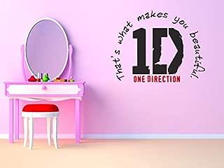 1D Wall Sticker - One Direction Logo with Lyrics - Wall Art Sticker - Vinyl Decal - Modern Transfer Made in USA