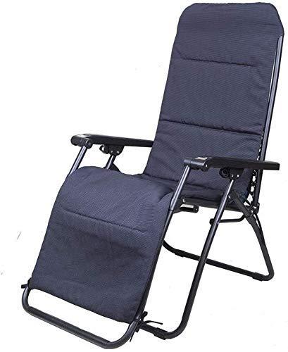 Sillas de jardín reclinables de alta resistencia Silla de jardín plegable portátil para acampar Silla de jardín plegable con soporte de cojín 200 kg (color: gris claro, tamaño: 69,5 * 52 * 37 cm)
