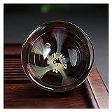 Red Peony Wangweiming Vintage Kungfu Tazas de té Porcelana de glaseado de glaseado de glaseado de Horno transformación de Horno transformación Tazas de té Retro Fambe Glass Tazas de té WWM