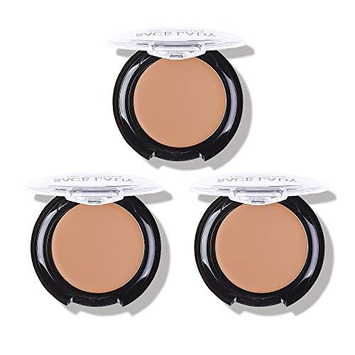3 Pack Full Coverage Concealer Cream Makeup, Waterproof Matte Smooth Concealer Corrector Long Wearing for Dark Spot Under Eye Circles Cover (3×6g/0.2Oz, 52 Warm Natural)