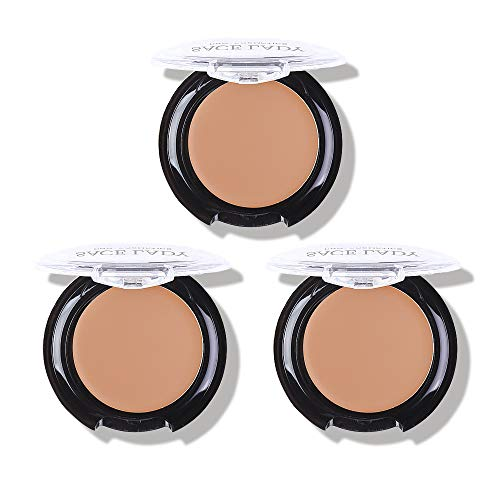 3 Pack Full Coverage Concealer Cream Makeup, Waterproof Matte Smooth Concealer Corrector Long Wearing for Dark Spot Under Eye Circles Cover, (#52 Warm Natural)