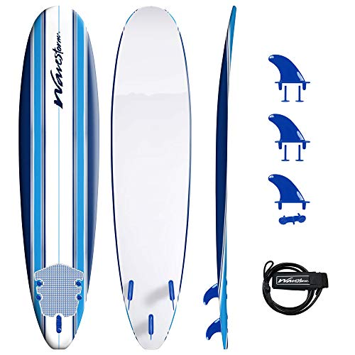 Wavestorm 8ft Classic Surfboard // Foam Wax Free...