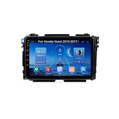 Autoradio Mit Navi Car Stereo Radio Coche Pantalla Tactil Coche GPS Navegación Para Honda Vezel 2015-2017 Conecta Y Reproduce Cámara De Respaldo Estéreo De Coche Auto Dvd Player
