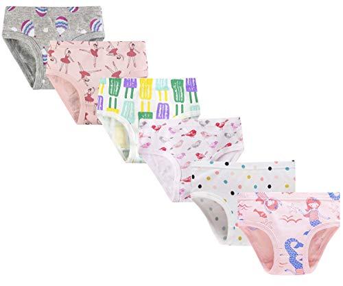 Ceguimos - 6er Pack Kinder Mädchen Slips Unterhosen, Farbe C, Gr. 122/128