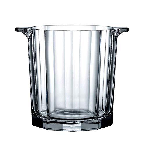 ZXL Portaghiaccio,Secchiello per Ghiaccio in Cristallo con Manico a Pinza, Dispositivo di Raffreddamento per Secchiello per Vino Isolato, addensatore per Bicchiere da Vino in Vetro Champagne per