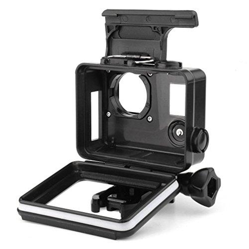 SOONSUN Side Open Blackout Housing Case for GoPro Hero4 Hero3+ Hero3 with Skeleton Backdoor and Lens