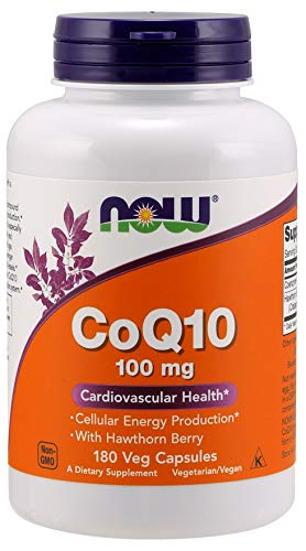 Now Foods CoQ10 with Hawthorn Berry, 100mg - 180 vcaps, 0.155 kg
