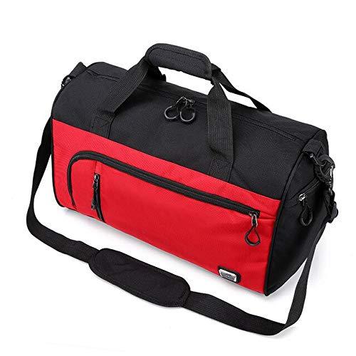 Palestra borsa sport borsa all'aperto grande pacchetto di viaggio palestra borse donne fitness Yoga borse spalla messaggero borsa zaina male 43x25x19cm rosso