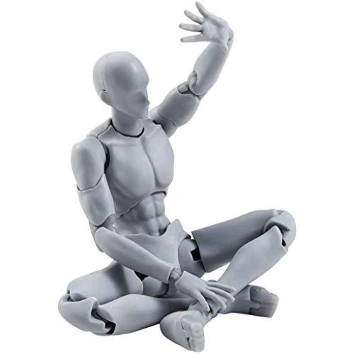 Wensltd Nuevo de Dibujar Figuras para Artistas Figura de Acción Modelo Humano Maniquí Man Woman Kits - una, Size:About 13-15cm