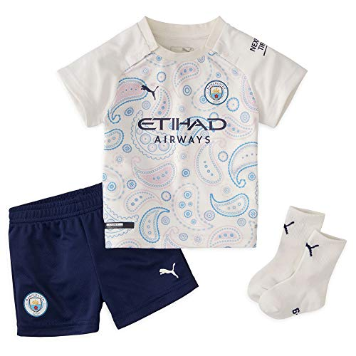 PUMA Manchester City 2020/21 - Kit de fútbol infantil para bebé, color blanco