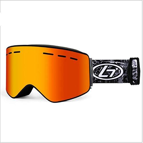 Mouygsd Gafas Snowboard Doble Capa Antiniebla Gafas de esquí antivaho para niños Gafas de esquí esféricas antivaho de Doble Capa para niños