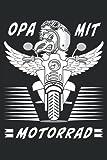 OPA MIT MOTORRAD FLÜGEL KOPF: Terminplaner für 2022. Geeignet als Kalender, Notizbuch und Tagebuch mit 120 Seiten.