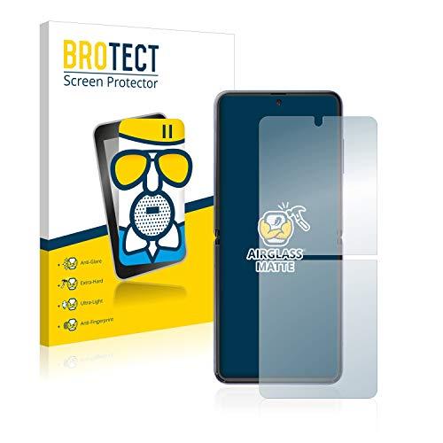 BROTECT Entspiegelungs-Panzerglasfolie kompatibel mit Samsung Galaxy Z Flip 5G - Anti-Reflex Panzerglas Schutz-Folie Matt
