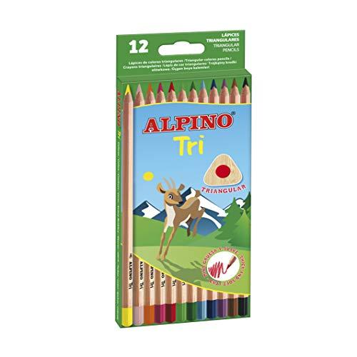 Alpino, 128, Dreikant-Buntstifte Unica bunt