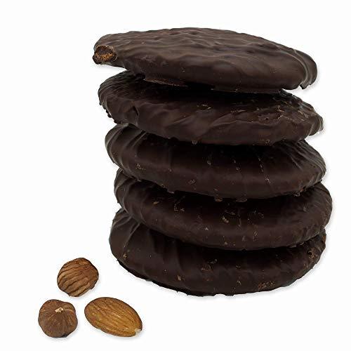 """Lebkuchen - glutenfrei - original Nürnberger Elisen-Lebkuchen - Zartbitter-Schokolade - ohne Mehl - handgefertigte Qualität - prämierte Meisterhändler-Manufaktur (Lebkuchen \""""Schokolade\"""", 350 Gramm)"""