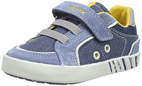 Geox B Kilwi Boy B, Sneakers Basses, Bleu (Avio/DK Sky C4b4s), 21 EU