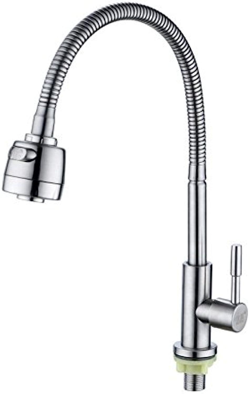 ETERNAL QUALITY Badezimmer Waschbecken Wasserhahn Messing Hahn Waschraum Mischer Mischbatterie Single kalte Küche Wasserhahn Edelstahl 304 Teller Waschbecken den Hahn zu