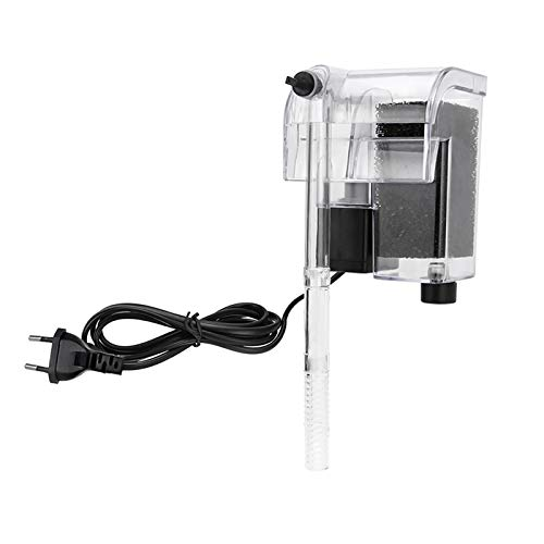 WEAVERBIRD Aquarium Filter 3-in-1 Aquarium Filter zum Aufhängen 3W 250 L/H (66 GPH) Wasserfall Aquarium Filtrationswasser Süßwasser Salzwasser