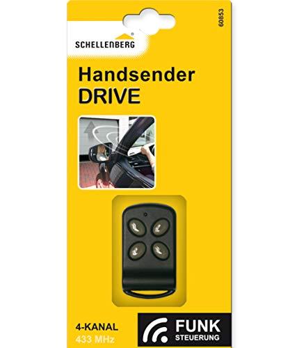 Schellenberg 60853 Handsender für Torantriebe, Garagentore, Flügeltore, 4-Kanal Sender mit 433 MHz, bis zu 40 m Reichweite