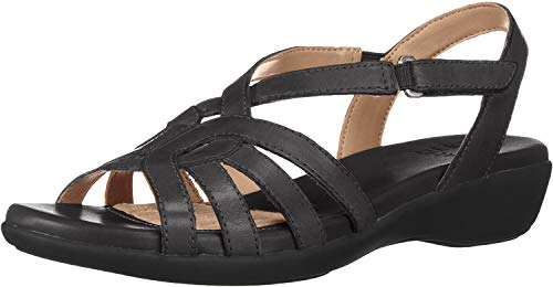 Naturalizer Women's Nalani Sandal, Black, 8 W US