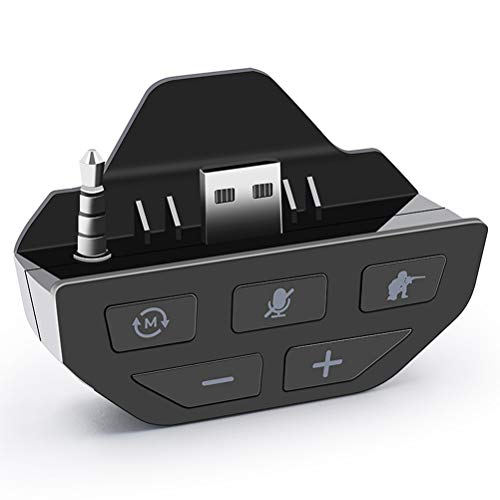 AKAKKFK Xbox One Headset Converter-Xbox One Controller Sound Enhancer Stereo Headset Audioadapter für Xbox One X/S Controller,Weiß