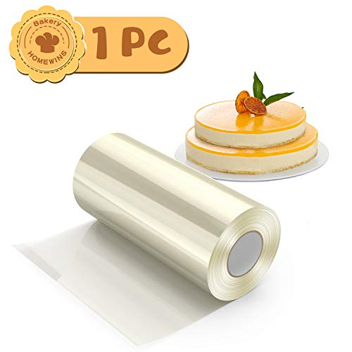 H HOMEWINS Rollo Pasteleria Lámina de Acetato Decoración de Pasteles Tartas Chocolates Rollo Transparentes para Repostería y Pasteleria Pastel Mousse Molde (10cm*10m)