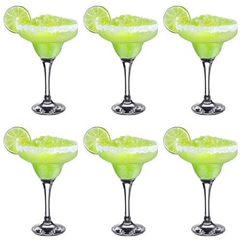 Rink Drink Margarita Glasses - Classic Style Party Drinking Barware in Gift...