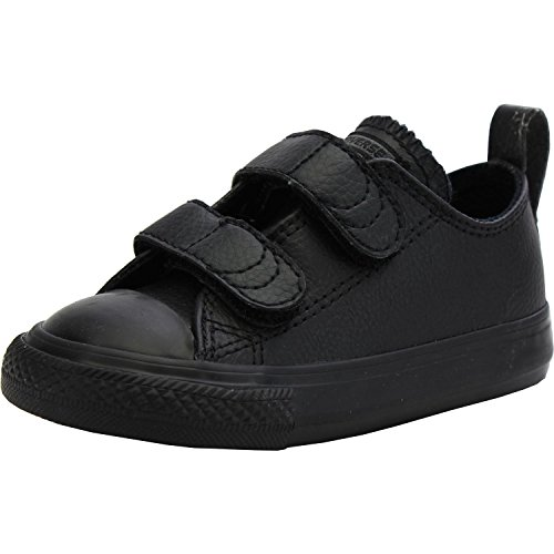 Converse Chuck Taylor All Star 2V Leather Ox Infant Kids Trainer Black - UK 6