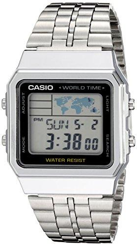 Casio Men's A500WA-1ACF Classic Silver-Tone Watch