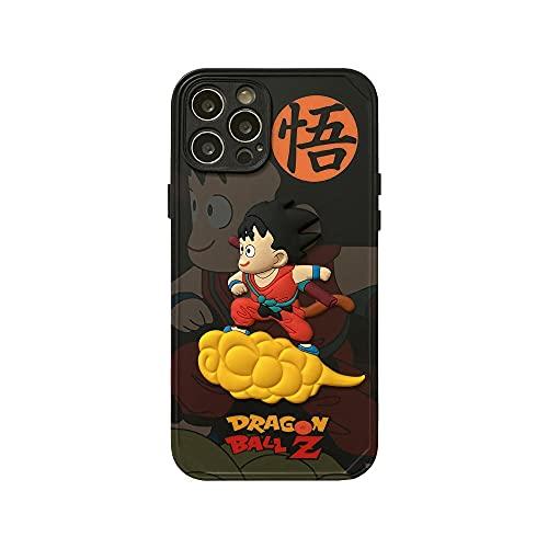 Funda de silicona Dragon Ball Premium Handyhülle aus kompatibel mit allen iPhones protección completa, estructura de 3 capas (iPhone 12 Pro Max)-Anime_5_iPhone_XR