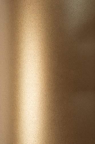 10 x Blatt Perlmutt-Braun 125g Papier DIN A4 210x297mm, Sirio Pearl Fusion Bronze, ideal für Hochzeit, Geburtstag, Weihnachten, Einladungen, Diplome, Grußkarten, Scrapbooking, Kunst und Handwerk